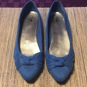 Shoes - Blue Micro Suede 12 (US) Flats